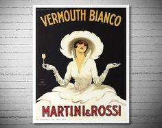 #LGLimitlessDesign  #Contest  Vermouth Bianco - Martini and Rossi - Vintage Food&Drink Poster