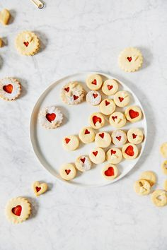 blood orange curd linzer cookies   hummingbird high