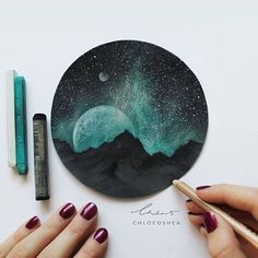 by with Beautiful 😍😍😍 Intergalactic Sky 🌚 ____ What I used: -Rembrandt Soft Pastels -Faber-castell Polychromos Pastels -Faber-castell Pitt Pastel Pencils -White Acrylic Paint (for stars) -Micador Fixative Spray (to set) On dark grey pastel paper Soft Pastel Art, Chalk Pastel Art, Chalk Pastels, Soft Pastels, Pastel Paper, Black Paper Drawing, Pastel Drawing, Painting & Drawing, Drawing Tips