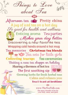 Things to love about tea.