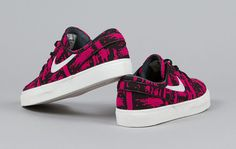 Nike SB Stefan Janoski Low   Fuchsia Force / Ivory   Black