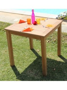 Tavolo rettangolare fisso in resina per esterno. Disponibile nei ...