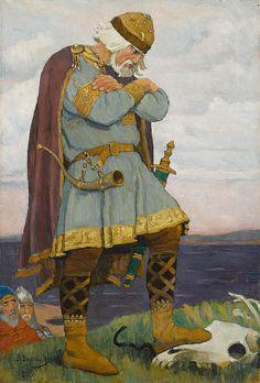 """Viktor Mikhailovich Vasnetsov  (1848-1926) - """"Wise Oleg"""""""