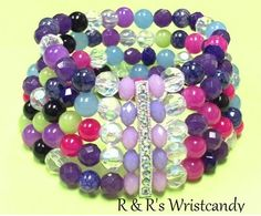 Berry Blast Stack Beaded Bracelet by RandRsWristCandy on Etsy, $8.00