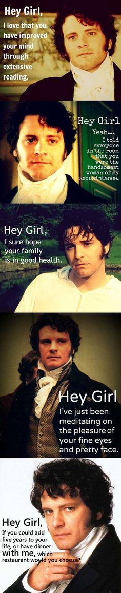 Oh, Mr Darcy! Srsly... Best. Boyfriend. EVER. #austen #prideandprejudice