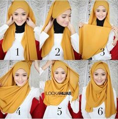 Hijab tutorial.
