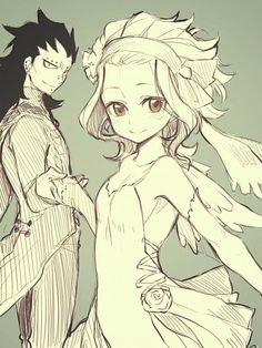 AIRY TAIL, Levy McGarden, Gajeel Redfox, Long Gloves