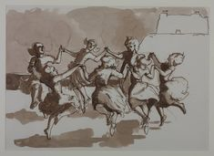 Paula Rego 'Drawing for 'The Dance'', 1988 © Paula Rego. Ink on paper.