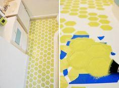 We're Floored: 20 Swoon-Worthy Painted Floors via Brit + Co.