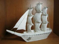 Crochet ship! This is so cool!