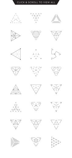 MASSIVE GEOMETRY BUNDLE more than 250 geometric symbols and icons: 60 sacred geometry items, 24 triangles, 30 dashed hexagons, 18 spinning objects, 12 basic Dreieckiges Tattoos, Small Tattoos, Tatoos, White Tattoos, Ankle Tattoos, Tiny Tattoo, Arrow Tattoos, Word Tattoos, Temporary Tattoos