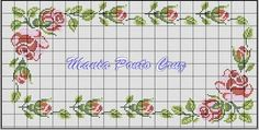 This Pin was discovered by Hül Cross Stitch Borders, Cross Stitch Rose, Cross Stitch Flowers, Cross Stitch Charts, Counted Cross Stitch Patterns, Cross Stitching, Embroidery Stitches, Embroidery Patterns, Crochet Patterns