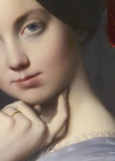sollertias: Comtesse d'Haussonville by Jean Auguste Dominique Ingres, 1845 (detail)