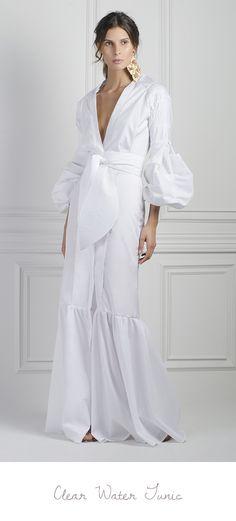 M'O Exclusive Clear Water Dress by Johanna Ortiz Love Fashion, High Fashion, Womens Fashion, Dress Skirt, Dress Up, White Outfits, Mantel, Beautiful Dresses, Beachwear