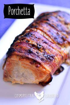 Porchetta - a beautiful Italian Pork Roast, perfect for any special occasion. Get the recipe from Cosmopolitan Cornbread #SundaySupper