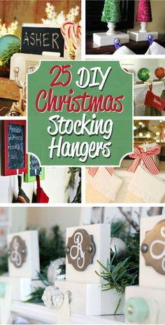 DIY Christmas Stocking Hangers You dont need to spend a fortune on stocking hangers to have a beautiful display. Use this list of 25 DIY Christmas Stocking Holders to find the perfect idea to hang your stockings with care. Source by acraftedpassion Winter Christmas, Christmas Holidays, Christmas Crafts, Christmas Decorations, Christmas Ideas, Holiday Decorating, Wood Decorations, Cheap Christmas, Homemade Christmas