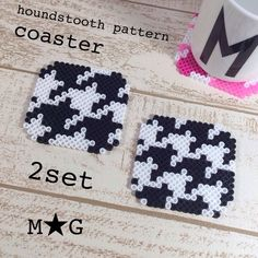 Coaster set  perler beads by M ★ G