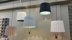 A nice image of our @LittleGreene lampshades in the @vansand72 showroom in Holland - great to see them up in Europe.