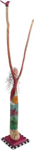"Organic & found material sculpture . . . 36"" H $1092.50"