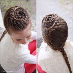 Started with a spiral braid and ended with a french braid.  Letitys oli tänään sellaista, että aloitin tekemään jotain ihan muuta kuin mihin päädyin... Tässä spiraalilettiä ja ranskanlettiä.
