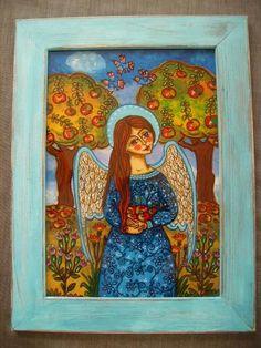 Christmas Paintings Nativity Creche Crib Wall Colorful