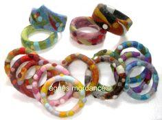 agnès mordancé© bracelets laine feutrée motifs piquetés à l'aiguille, needle felted bracelets bangles