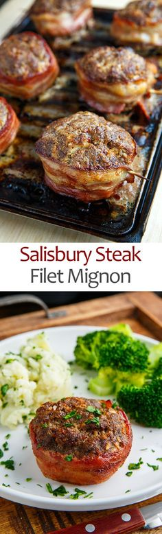 Bacon Wrapped Muffin Pan Meatloaf (aka Salisbury Steak Filet Mignon)