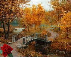 Thomas Kinkade, Autumn Forest.