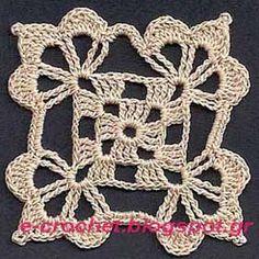 Βασικό μοτίφ σε λευκό χρώμα θα το δείτε στην Ισπανία (23/2/2012) http://rincondepaqui.blogspot.gr/2012/02/granny.html Με λευκό ...
