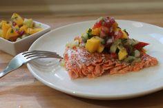 Grilled salmon + mango salsa