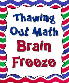 Corkboard Connections: Thawing Out Math Brain Freeze!
