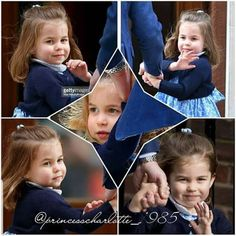The Day Prince Louis was born! - Princess Charlotte is adorable and looks so much like Queen Elizabeth II! Princess Diana And Charles, Royal Princess, Prince And Princess, Prince William Kids, Prince William And Catherine, Duchess Kate, Duchess Of Cambridge, Kate And Pippa, Prince George Alexander Louis