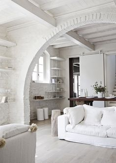 painted brick + arch