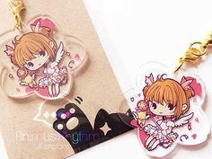 Crystal Clear Acrylic straps charm: Card Captor Sakura, anime CCS, kero 0