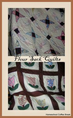 My Favorite Blankets: Flour Sack Quilts
