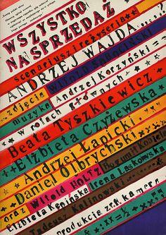 1968 Polish poster for EVERYTHING FOR SALE (Andrzej Wajda, Poland, 1968)    Designer: Franciszek Starowieyski (1930-2009)