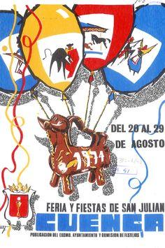 """San Julián 1974 Programa de las Fiestas de San Julián de 1974, del 20 al 29 de agosto El torero conquense Luis Algara """"El Estudiante"""" comparte cartel con Julián García y José Julio Granada"""