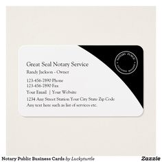 22 Best Notary Public Business Cards Images Business Card Design