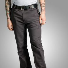 Upright Cyclist Division Pants are made of garment washed cotton and are a comfortable, mid-weight trouser that offers great mobility for cycling, but doesn't scream biker.