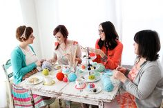 one sheepish girl: Emma Magazine May Issue - Yarn Party!  gotta have me one of these.