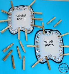 Do you teach a Preschool Dental Health theme? Get a set filled with fun hands on activities and crafts for your classroom. Fun, easy, and hands-on learning. Dental Health Month, Oral Health, Health And Nutrition, Health Fitness, Health Lesson Plans, Health Lessons, Alphabet Activities, Preschool Activities, Counting Activities