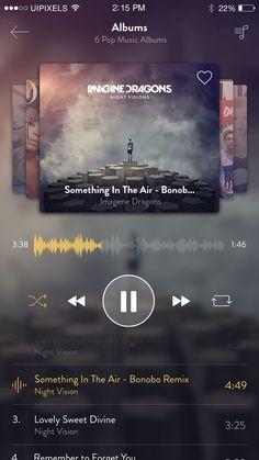 Iphone6 music app design: