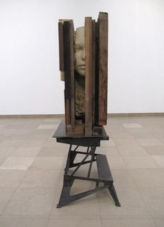Mark Manders, Unfired Glay Head (2011)  All rights are reserved. Photography by Peter Cox.  Rabo Art Collection