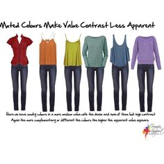 Learining about value contrast: muted colours value contrast