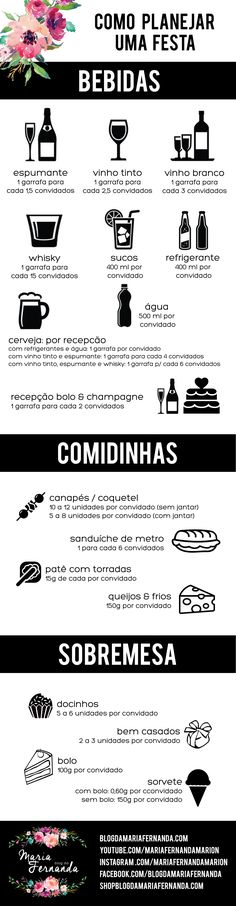 Como Escolher a Quantidade de Bebidas para o Casamento | Blog de Casamento DIY da Maria Fernanda