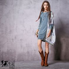 Artka женская весна новый Boho стиль этническая отпечатано лоскутное платье старинные о образным длинным рукавом асимметричный подол платья LN10365Cкупить в магазине ArtkaнаAliExpress