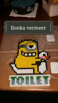 Diy Perler Beads, Pixel Art, Minions, Pikachu, Projects To Try, Slug, Camilla, Pictures, Bathroom