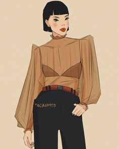 Aesthetic Women, Aesthetic Art, Aesthetic Body, Aesthetic Movies, People Illustration, Illustration Girl, Sketchbook Drawings, Art Sketches, Really Cool Photos