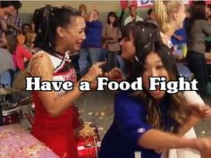 Bucket List- Have a Food Fight #LeaMichele #NayaRivera
