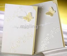 <3 Simple and pretty - Butterfly wedding invitations - butterflies and wildflowers go together like peanut butter and jelly and they're symbolic of 2 Corinthians 5:17.